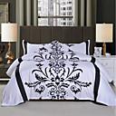 preiswerte Bohemian Bettbezüge-Bettbezug-Sets Blumen 3 Stück Polyester Bedruckt Polyester 1 Stk. Bettdeckenbezug 2 Stk. Kissenbezüge