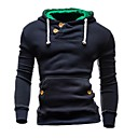 cheap Men's Necklaces-Men's Sports Active Long Sleeve Slim Hoodie - Solid Colored, Cut Out Hooded