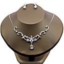 tanie Zestawy biżuterii-Damskie Cyrkonia Biżuteria Ustaw - Cyrkon Kwiat Zawierać Biały Na Ślub / Party Wieczór