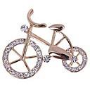 hesapli Moda Broşlar-Kadın's Broşlar Bisiklet Bayan Tatlı Zarif Yapay Elmas Broş Mücevher Altın Uyumluluk Günlük
