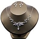 tanie Zestawy biżuterii-Damskie Cyrkonia Biżuteria Ustaw - Cyrkon Kwiat Zawierać Biały Na Ślub / Impreza