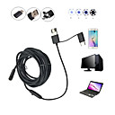 cheap Chandeliers-2 in 1 2M 5.5mm 6LEDs Rigid Cable Android Endoscope Waterproof Inspection Camera Micro USB Video Camera
