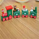 お買い得  クリスマス向けおもちゃ-クリスマスデコレーション クリスマスギフト クリスマス向けおもちゃ 電車 / 汽車 おもちゃ クリスマス トレーン Elk 雪だるま 休暇 子供 クラシック 雪だるま ウッド 1pcs 小品