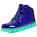 tanie Żyrandole-Dla chłopców Obuwie Skóra patentowa / Materiał do wyboru Lato Wygoda / Świecące buty Tenisówki Szurowane / Haczyk i pętelka / LED na Czarny / Niebieski / Różowy