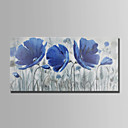 cheap Floral/Botanical Paintings-Oil Painting Hand Painted - Floral / Botanical Abstract Canvas