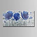 preiswerte Abstrakte Gemälde-Hang-Ölgemälde Handgemalte - Blumenmuster / Botanisch Abstrakt Segeltuch
