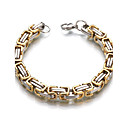 cheap Men's Bracelets-Men's / Women's Geometric Chain Bracelet - Stainless Steel Classic Bracelet Gold For Wedding / Casual