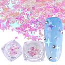 baratos Glitter para Unhas-1pç Paetês / Nail Glitter Elegante & Luxuoso / Brilho & Glitter Nail Art Design