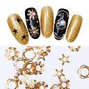 cheap Rhinestone & Decorations-1 pcs Decals nail art Manicure Pedicure Daily Metallic / Fashion / Christmas