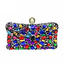 cheap Clutches & Evening Bags-Women's Bags Polyester Evening Bag Crystals / Pearls Gold / Black / Silver
