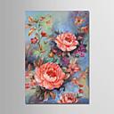 preiswerte Abstrakte Gemälde-Hang-Ölgemälde Handgemalte - Blumenmuster / Botanisch Modern Segeltuch