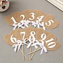 abordables Fundas de Almohada-Números de mesa Lino / Algodón / Material Mixto Decoraciones de la boda Fiesta de Boda Tema Clásico Todas las Temporadas