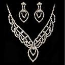 olcso Ékszer szettek-Női Ékszer szett - Hamis gyémánt tartalmaz Függők Nyaklánc Ezüst Kompatibilitás Esküvő Parti