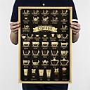 זול עיצוב וקישוט לקיר-קפה, daquan, ברים, מטבח, ציור, פוסטר, קישוט, בציר, פוסטר, רטרו, קיר, מדבקה