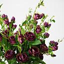 זול פרח מלאכותי-פרחים מלאכותיים 1 ענף ארופאי ורדים פרחים לשולחן