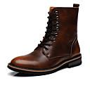 ieftine Cizme Bărbați-Bărbați Pantofi Piele Toamnă / Iarnă Cizme la Modă Cizme Gri / Maro Închis / Vișiniu / Pantofi de piele