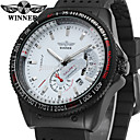 cheap Mechanical Watches-WINNER Men's Wrist Watch Calendar / date / day Silicone Band Vintage / Casual / Fashion Black / Automatic self-winding