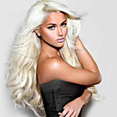 cheap Synthetic Lace Wigs-Synthetic Lace Front Wig Natural Wave Style Lace Front Wig Blonde Light Blonde Synthetic Hair Women's Natural Hairline Blonde Wig Long Natural Wigs