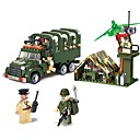 cheap 3D Puzzles-ENLIGHTEN Building Blocks Construction Set Toys Educational Toy 308 pcs Vehicles Military Truck compatible Legoing Non Toxic Vehicle Truck Military Vehicle Boys' Girls' Toy Gift