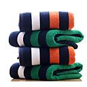 baratos Roupões e Toalhas-Qualidade superior Toalha de Banho, Listrado Poliéster / Algodão Banheiro