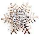 tanie Modne kolczyki-Broszki - Imitacja diamentu Płatek śniegu Prosty, Klasyczny, Modny Broszka Złoty / Srebrny Na Codzienny