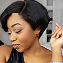 cheap Synthetic Capless Wigs-Synthetic Wig Straight Synthetic Hair Black Wig Women's Short Capless Natural Black