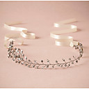 cheap Party Headpieces-Rhinestone Headbands / Head Chain with Scattered Bead Floral Motif Style / Sparkling Glitter 1pc Wedding / Special Occasion Headpiece