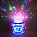 abordables Herramientas Para Vegetales y Verduras-1pc Reloj despertador musical Sky Projector NightLight Colorido Pilas AAA alimentadas Para Niños / Color variable / Cumpleaños Batería