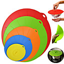 Χαμηλού Κόστους Χωνευτή Τοποθέτηση-Εργαλεία κουζίνας Σιλικόνη Life Σετ εργαλείων μαγειρέματος / Καλύμματα τροφίμων Για μαγειρικά σκεύη 5pcs