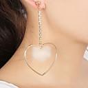 tanie Zestawy biżuterii-Damskie Kolczyki drop Kolczyki Hoop - Serce Słodkie, Elegancja Złoty / Srebrny Na Impreza Prezent