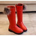 halpa Tyttöjen kengät-Tyttöjen Kengät Tekonahka Talvi Comfort / Talvisaappaat Bootsit varten Musta / Punainen / Burgundi