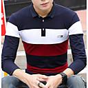 baratos Camisas, Shorts & Calças de Corrida-Homens Camiseta Activo / Moda de Rua Estampa Colorida Algodão Colarinho de Camisa Delgado / Manga Longa