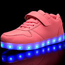 cheap Girls' Shoes-Girls' Shoes PVC Leather / Customized Materials Fall / Winter Comfort / Light Up Shoes Sneakers Lace-up / Magic Tape / LED for Red / Blue