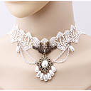 cheap Party Gloves-Women's Choker Necklace - Imitation Pearl Flower Simple, Fashion White Necklace One-piece Suit For Daily