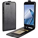 זול מגנים לטלפון & מגני מסך-מגן עבור Asus Zenfone 4 ZE554KL / Zenfone 4 מקס ZC554KL מחזיק כרטיסים / נפתח-נסגר כיסוי מלא אחיד קשיח עור PU ל Asus Zenfone 4 ZE554KL / Asus Zenfone 4 Selfie ZD553KL / Asus Zenfone 4 Selfie ZD552KL