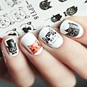 abordables Purpurina para Manicura-1 pcs Adhesivos arte de uñas Manicura pedicura Animal / Moda Diario