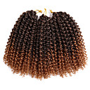 cheap Hair Braids-Braiding Hair Curly / Crochet Curly Braids / Hair Braids 100% kanekalon hair / Kanekalon 60 roots / pack, 3pcs / pack Hair Braids Blonde / Auburn 8 inch Short Event / Party