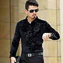 cheap Men's Slippers & Flip-Flops-Men's Party Shirt - Floral Jacquard Classic Collar