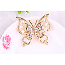 cheap Brooches-Women's Brooches Rhinestone Alloy Butterfly Gold Silver Animals Jewelry Gift Daily Costume Jewelry