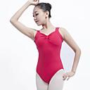 tanie Anime cosplay: akcesoria-Balet Body Damskie Wydajność Bawełna Falbany Bez rękawów Naturalny Trykot opinający ciało / Śpiochy dla dorosłych