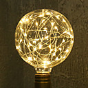 cheap Table Lamps-1pc 3W 200lm E26 / E27 LED Filament Bulbs G95 33 LED Beads SMD Starry Decorative Warm White 85-265V