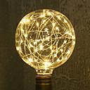 abordables Lámparas Colgantes-1pc 3W 200lm E26 / E27 Bombillas de Filamento LED G95 33 Cuentas LED SMD Estrellado Decorativa Blanco Cálido 85-265V