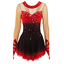 cheap Ice Skating Dresses , Pants & Jackets-Figure Skating Dress Women's / Girls' Ice Skating Dress Black / Red / Red+Black Spandex High Elasticity Performance Skating Wear Handmade