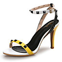 cheap Women's Heels-Women's Shoes Synthetic Microfiber PU Spring / Summer Comfort Sandals Stiletto Heel Rivet Yellow / Red / Party & Evening