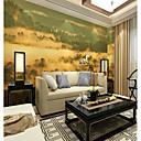 baratos Murais de Parede-Art Deco Padrão 3D Decoração para casa Moderna Rústico Modern Revestimento de paredes, Tela de pintura Material adesivo necessário Mural,