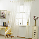 cheap Sheer Curtains-Sheer Curtains Shades Bedroom Floral Polyester Blend Embroidery