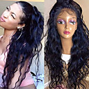 cheap Human Hair Wigs-Human Hair Lace Front Wig Wig Brazilian Hair Water Wave 130% Density With Baby Hair / Natural Hairline / Unprocessed Women's Long Human Hair Lace Wig