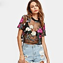 cheap Women's Sandals-Women's Club Going out Cute T-shirt - Floral, Lace