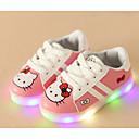 זול נעלי ילדות-בנות נעליים PU אביב קיץ נוחות נעלי ספורט הליכה שרוכים ל לבן / שחור / ורוד