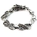 cheap Men's Bracelets-Men's Chain Bracelet - Dragon Asian, Vintage, Punk Bracelet Gray For Daily Festival